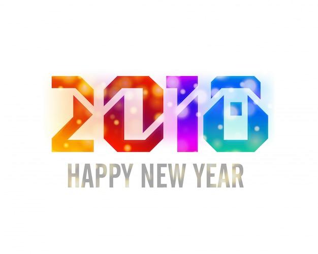 Glanzende, kleurrijke tekst 2018 op witte achtergrond. gelukkig nieuwjaar concept.