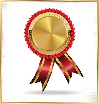 Glanzende medaille
