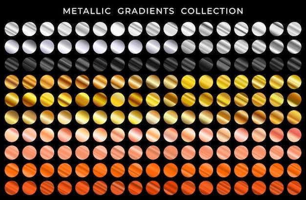 Glanzende metalen textuur gradatie grote reeks