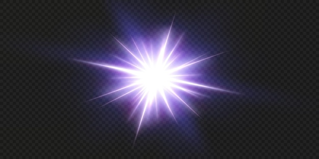 Glanzende neon sterren geïsoleerd op zwarte achtergrond. effecten, lensflare, glans, explosie, neonlicht, set. stralende sterren, prachtige blauwe stralen.