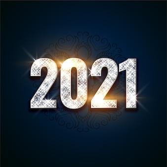 Glanzende nieuwe jaarachtergrond met lichteffect