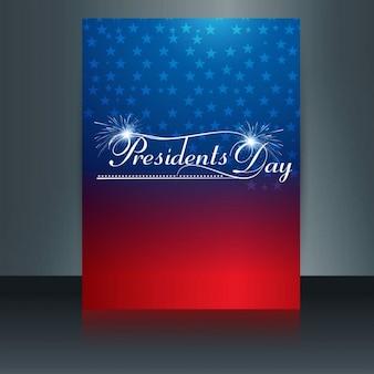 Glanzende presidenten dagkaart