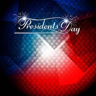 Glanzende presidents dag achtergrond