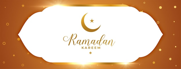 Glanzende ramadan kareem islamitische banner