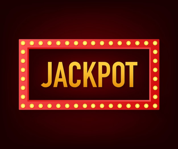 Glanzende retro teken jackpot banner. vintage stijlbanner. illustratie.