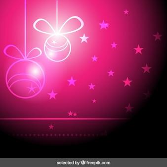 Glanzende roze kerst achtergrond