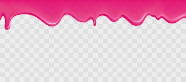 Glanzende roze slijmrand