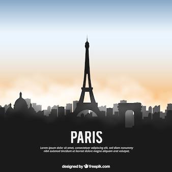 Glanzende skyline van parijs