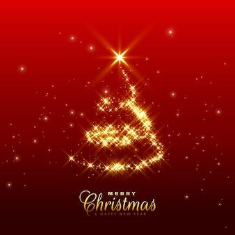 Glanzende sparkles kerstboom ontwerp