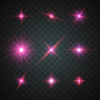 Glanzende sterren collectie