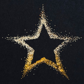Glanzende stoffige gouden ster vector
