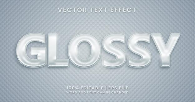 Glanzende tekst, glanzende bewerkbare teksteffectstijl