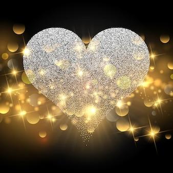 Glanzende valentines day achtergrond