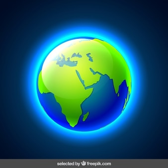 Glanzende wereld kaart
