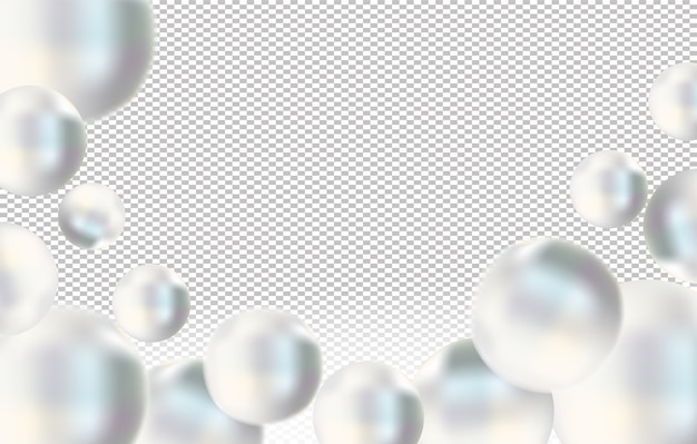 Glanzende witte zeeparel o