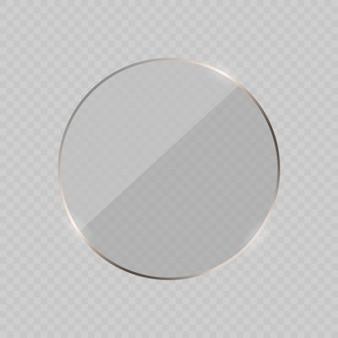 Glare glazen frame achtergrond. illustratie