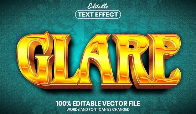 Glare-tekst, bewerkbaar teksteffect in lettertypestijl