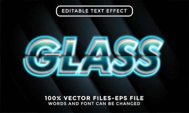 Glas. bewerkbare teksteffect premium vectoren