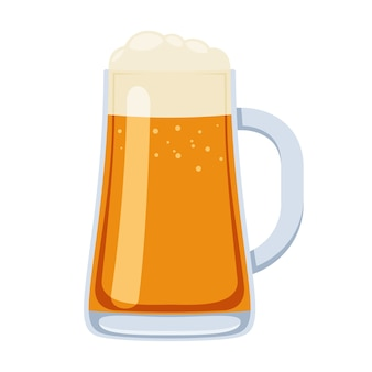 Glas bierpul in cartoon stijl illustratie