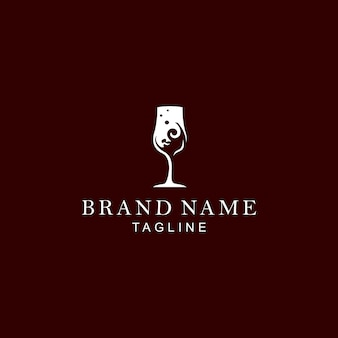 Glas wijn logo