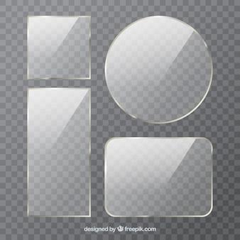 Glascollectie met verschillende vormen