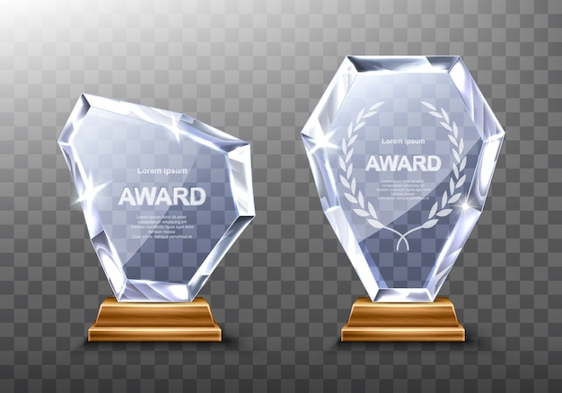 Glass trophies award