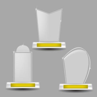 Glass trophies winnaar succes beloning