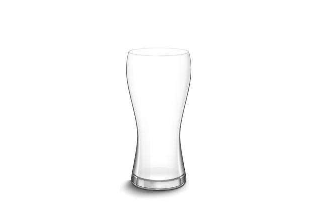 Glazen beker op een witte achtergrond.