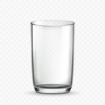 Glazen beker voor het drinken van melk of waterdrank vector