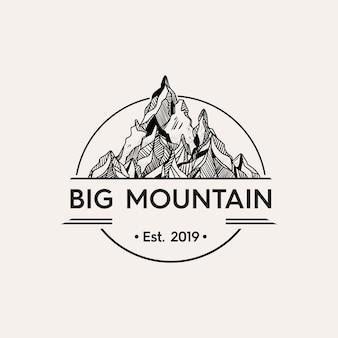Glazen berg illustratie