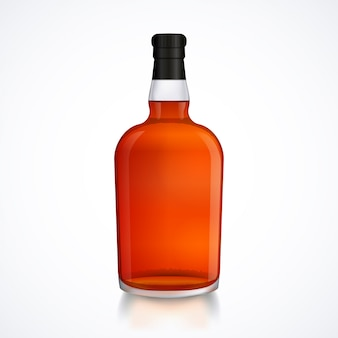 Glazen fles alcohol drinken