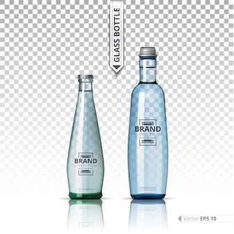 Glazen fles sjabloon