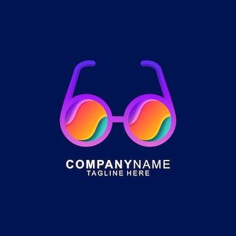Glazen logo