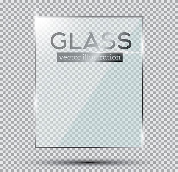 Glazen plaat geïsoleerd op transparante achtergrond.