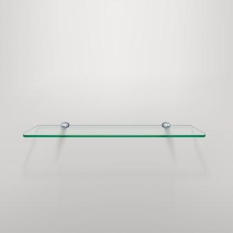 Glazen plank met schaduw