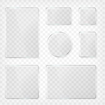 Glazen platen set