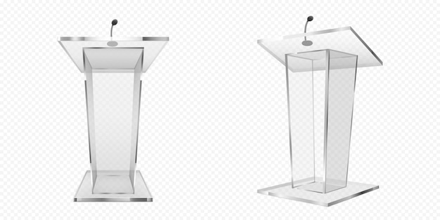 Glazen preekstoel, podium of tribune, tribune
