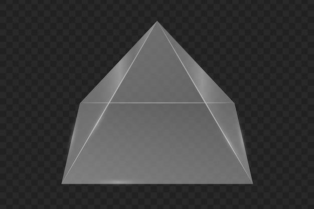 Glazen prisma piramide.