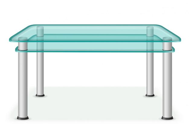Glazen tafel meubels vectorillustratie