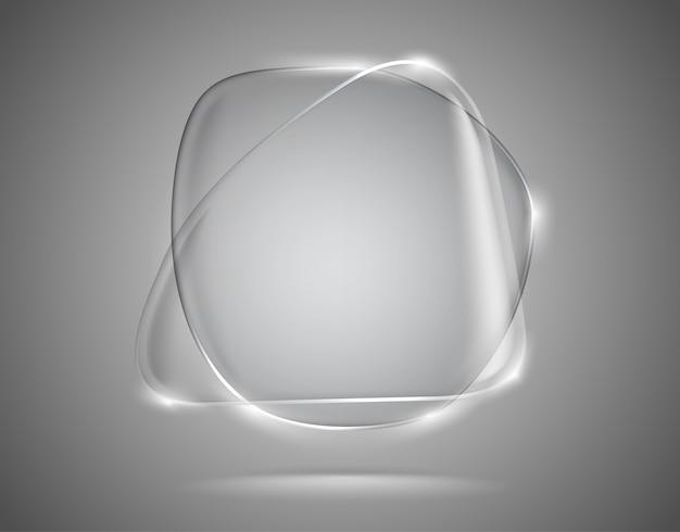 Glazen tekstballonnen met verlichte randen