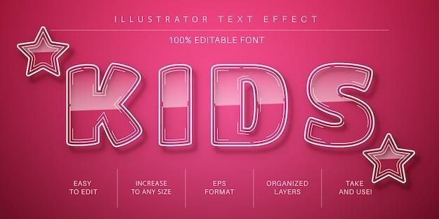 Glazen teksteffect, lettertypestijl