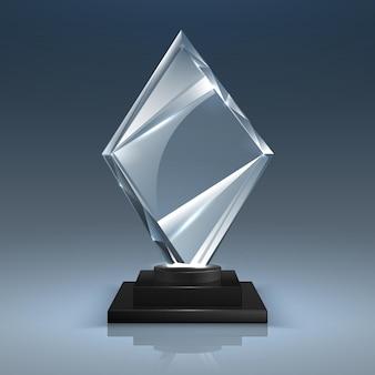 Glazen trofee illustratie