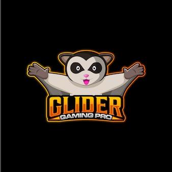 Glider gaming pro logo sjabloon