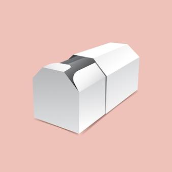 Glijdende uurvormige doos mock-up