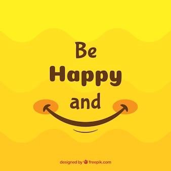 Glimlach achtergrond in gele tinten