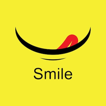 Glimlach emote vector sjabloonontwerp