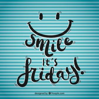 Glimlach het is vrijdag achtergrond