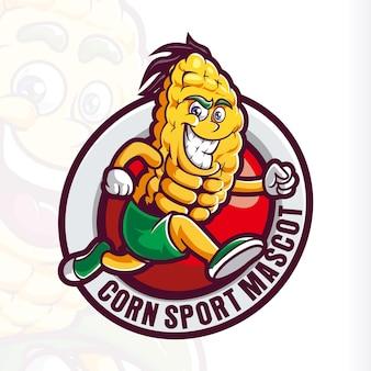 Glimlach maïs mascotte cartoon uitgevoerd