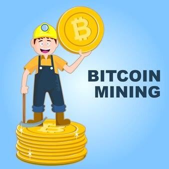 Glimlach mijnwerkers graven munt