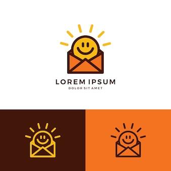 Glimlach ochtend mail bericht berichten app logo van de zon